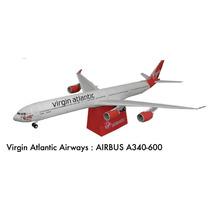 Papel Modelismo 3d - Airbus A340-600 Em 3 Dimensões