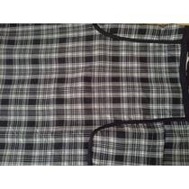 Saia Tweed Xadrez Plus Size Elastano Moda Maior Tamanho 46