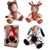 Bonecas De Pano Baby Filhotes Kit Com 4 Bichinhos Cortex
