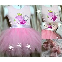 Fantasia Peppa Pig Bailarina...super Luxo Para Princesas!!!