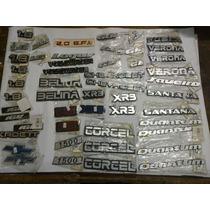 Kit 50 Emblemas Antigos Gol/belina/logus/xr3/saveiro/kadett
