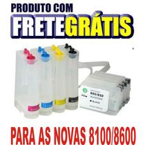 Bulk Hp 8100/8600/276 + Tinta Inktec Pigmentada Frete Grátis