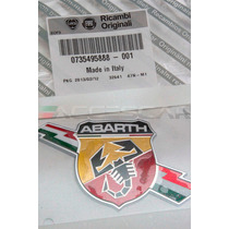 Emblema Abarth Com Raio Original Fiat