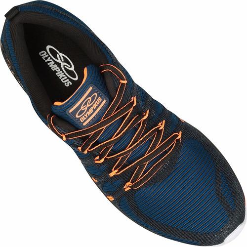Tênis Olympikus Style Masculino - Cor: Azul escuro - Laranja