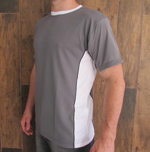 Camiseta Malha Dry Fit Com Faixa Lateral - Malha Fria - R  25 en ... b14d8b7484f60