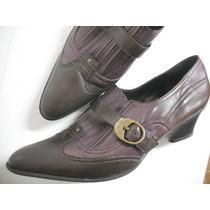 Sapato Salto Baixo Bicolor Datelli Tam 39 Ótimo Estado