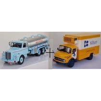 Miniatura Caminhão Kibon + Scania Vabis Outros Tempos 1/43
