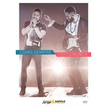 Como Sempre, Feito Nunca Jorge & Mateus Dvd Lacrado Original