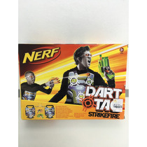 Lançador Nerf Dart Tag Strikefire 2 Player Set Coletes.