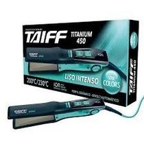 Chapa Bivolt 200ºc / 230ºc - Titanium 450 Azul Taiff - Azul