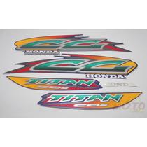 Adesivo Faixa Moto Honda Cg Titan 125 Azul 99 00