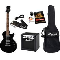 Kit Guitarra Amplificador Bag Afinador Mgap-b Marshall
