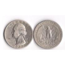 Moeda = Eua Quarter Dollar =1942 = Prata 900 = 6,25g = Sob =