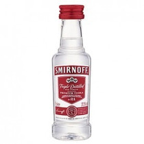 Vodka Smirnoff Red Miniatura - 50ml