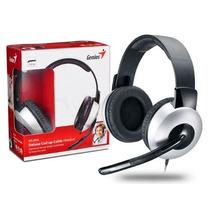 Fone Com Microfone Genius Hs-05a Headset Deluxe Prata