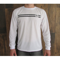 Camiseta Manga Longa Malha Dry Fit C Estampa Rg Sports
