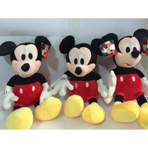 Mickey Pelucia Kit Com 3 Unidades De 40 Centimetros