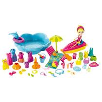 Boneca Polly Pocket Super Conjunto De Roupas Diversão Praia