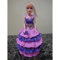 Lembrancinha Mini Barbie Em E.v.a