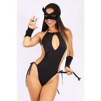 Sex Shop - Kit Com 2 Fantasias Feminina Gata Mascarada