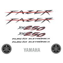 Kit Adesivos Yamaha Fazer Ys 250cc 2008 Preta