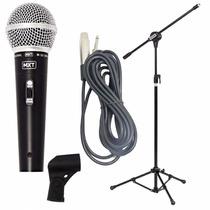 Microfone Profissional Mxt + Pedestal Com Cachimbo + Cabo