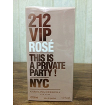 Perfume 212 Vip Rosé 50ml Original Rose - Carolina Herrera