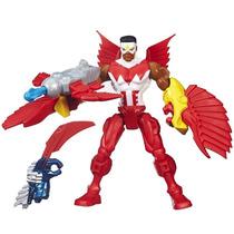 Boneco Marvel Super Hero Mashers Battle Falcon A7707 Hasbro