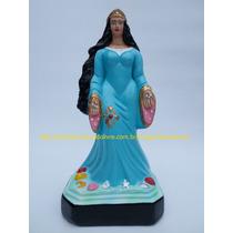 Escultura Mãe Iemanja Rainha Sereia Do Mar Linda Imagem 20cm