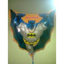 Balão Metalizado Batman E Super Man - 10 Unid.