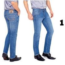 Calça Jeans Masculina Lycra Stretch 36 Ao 48 Slin