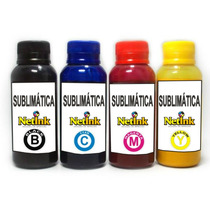Kit Tinta Sublimática 250ml - 4 Cores