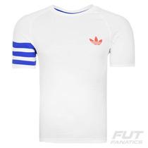 Camiseta Adidas Fitted Originals Branca - Futfanatics
