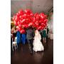 Frete Grátis 10 Balão 45cm Coração Vermelho Metalizado Gaz