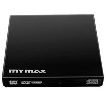Gravador Externo Mymax Dvd-rw Usb Slim Preto - Menc-d01-bk