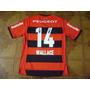 Camisa  Flamengo  Rubro  Negra  Jogo   14   Wallace     G