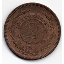 2 Centesimos De Bronze De 1869 Soberbo