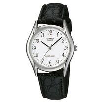 Relógio Casio Mtp-1094 E-7ad Caixa De Aço Pul. Couro C/nr Br