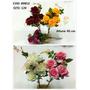 Kit 6 Flores Artificiais Rosa Plástico 45cm Melhor Preço-qx
