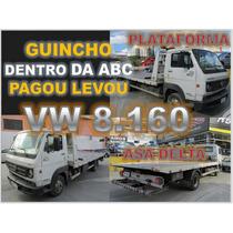 Caminhão Vw 8.160 Plataforma Com Asa Delta 2013 Único Dono