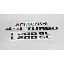 Kit Adesivos Mitsubishi L200 Gl 4x4 Turbo - Decalx
