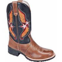 Bota Texana Country Rodeo Western Couro Legítimo Ref.: 6009