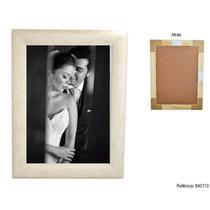 Porta Retrato De Madeira Com Vidro Anti-reflexo Foto 30x40cm