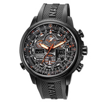 Citizen Jy8035 Navyhawk Atomic Perpetual All Black Chron