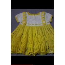 Vestido,jardineira De Croche Pra Bebê,infantil Promoção