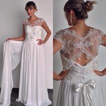 Vestido De Noiva Em Renda Bordado Papilloo