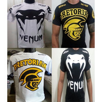 Kit 3 Camisa Camiseta Pretorian Venum Jaco Afliction Ufc