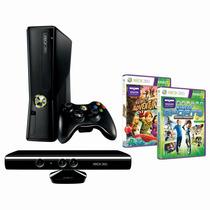 Xbox 360 Slim 250gb Elite Travado,+2 Controles Aceito Trocas