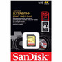 Cartão Sd Sdhc Sandisk Extreme Cla10 90mbs 600x Uhs3 4k 16gb