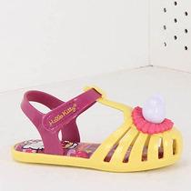 Sandália Infantil Grendene Hello Kitty - 17 Ao 25 - Amarelo